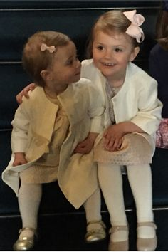 Cousins Princess Estelle of Sweden and Princess Leonore. Estelle just radiates happiness. I love her.