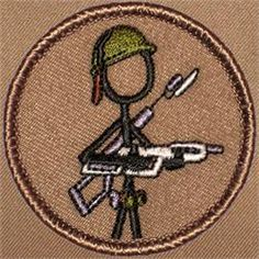 Stickman Marine Patrol Patch (#333)