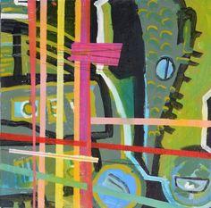 Christine Bush Roman Painting - Crocodile on Chairish.com