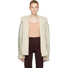 YEEZY Ivory Short Shearling Jacket. #yeezy #cloth #