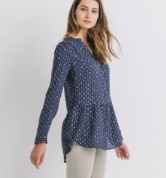 Patterned+tunic+top