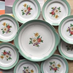 Orangevertevintage — Plat A tarte / Gateau Et Assiettes Assorties Badonviller Vaisselle Vintage