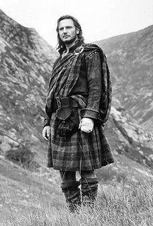 Liam Neeson in a kilt.
