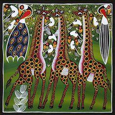 ТИНГАТИНГА - шедевры глянцевой живописи Восточной Африки