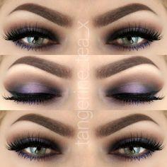 Purple Love @illamasqua Powder Eye Shadow in Heroine, Obsidian and CanCan, @aomcosmetics