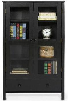 shelf bookcase with glass doors black by cembre via flickr