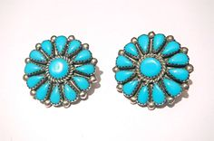Fabulous Vintage Sterling Silver Turquoise by PattisCreationsNMore #FlowerShop
