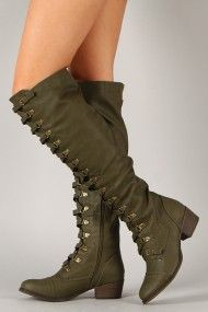 I LOVE THESE BOOTS! THESE ARE A MUST HAVE FOR ME BECAUSE DURING WINTER I STAY BUNDLED UP MOST OF THE TIME! Breckelle Alabama-14 Military Lace Up Boot
