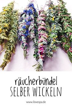 DIY SMUDGE STICKS Archives - I LOVE SPA - Germany& largest spa mag Make smudge sticks yourself / wrap bundles of incense yourself – Here you will find instructions Backyard Projects, Diy Projects, Wedding Ring Sets Unique, Spa Day At Home, Age Of Aquarius, Sound Healing, Diy Fireplace, Smudge Sticks, Diy Spa