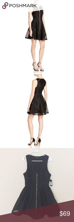 🆕NWT Guess fit and flare black dress SZ 6 Brand new with tag! Never worn. Size 6.  Beautiful dress!!!             ❌no trade ❌no lowballing offers!!! Guess Dresses