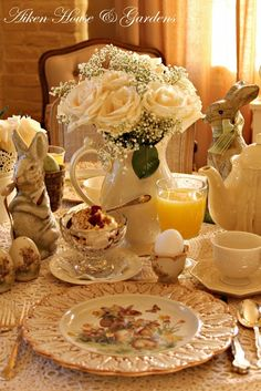 Beautiful Easter Morning Table setting...