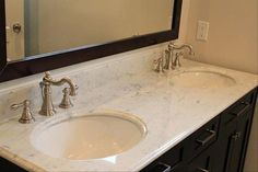 Bathroom Circle Sink With Gold Traditional Faucet Also Large Rectangle Mirror And Brown Stained Wooden Closet Storage Besides  Bathroom Countertops: The Tops Surface Materials for Your Vanity