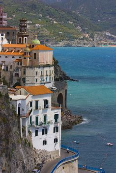 visitheworld: A bend to Atrani, Amalfi Coast, Italy (by chipotles). Places Around The World, Oh The Places You'll Go, Places To Travel, Places To Visit, Around The Worlds, Sorrento, Dream Vacations, Vacation Spots, Amalfi Coast Italy
