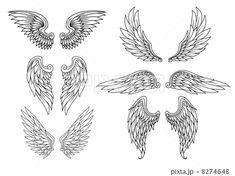 翼 イラスト - Google 検索