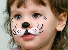 Simple face painting designs are not hard. Many people think that in order to have a great face painting creation, they have to use complex designs, rather then simple face painting designs. Puppy Face Paint, Dog Face Paints, Kitty Face Paint, Face Painting Designs, Paint Designs, Body Painting, Simple Face Painting, The Face, Face And Body