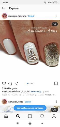 The Connection Among French And English And It Is Total Effect On French Translations - Nail Art Xmas Nails, Holiday Nails, Christmas Nails, Holiday Nail Designs, Nail Art Designs, Gel Nail Art, Gel Nails, Cute Nails, Pretty Nails