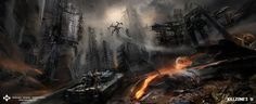 killzone 3 nuked phyrrus research concept art miguel bymonje