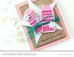 Sending Wintery Love Mitten Valentine Card by Julia Stainton