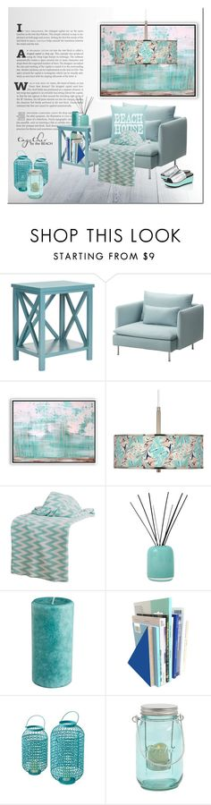 """""""Beach House"""" by cruzeirodotejo ❤ liked on Polyvore featuring interior, interiors, interior design, home, home decor, interior decorating, Safavieh, Woodson & Rummerfield, Rizzy Home and Alassis"""