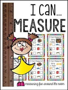 "FREE MATH LESSON - ""I Can Measure! Freebie"" - Go to The Best of Teacher Entrepreneurs for this and hundreds of free lessons.  Pre-Kindergarten - 1st Grade    http://www.thebestofteacherentrepreneurs.net/2017/01/free-math-lesson-i-can-measure-freebie.html"