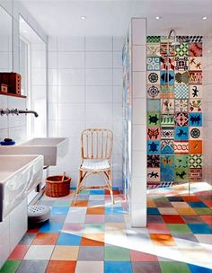 Bathroom tile over glue - Tile stickers for old, dull tiles