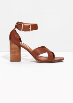 & Other Stories | Rounded Heel Leather Sandals