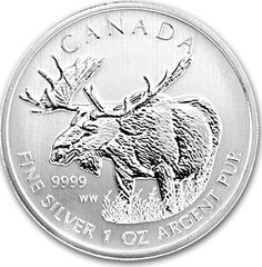 "The Royal Canadian Mint has placed a strict and low mintage on these 1 oz Silver coins. With the unprecedented demand of these gorgeous .9999-fine Silver coins in Europe and the rest of the world, these Silver Moose coins will sell out fast!    The Canadian Moose coin is the fourth coin released in the Royal Canadian Mint's three-year long ""Canadian Wildlife Coin Series"" program, which has seen widespread popularity since its first release in 2011."