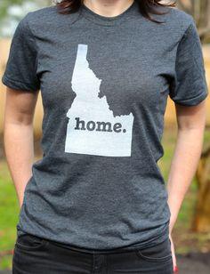 I want!!!   The Home. T - Idaho Home T, (http://www.thehomet.com/idaho-home-t-shirt/)