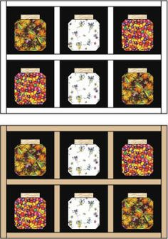 Jars Quilt Block Pattern.. This could be fun!