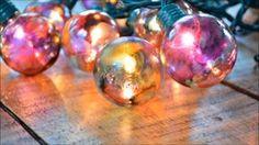 Create Alcohol Ink Globe Lights