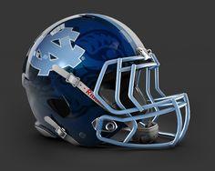 6c886b9bec4 Concept Helmet - UNC College Football Helmets