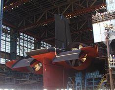 TK-208 Dmitri Donskoi in the SEVMASH building hall ca. 2004