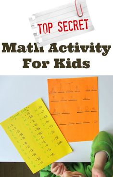 Secret Code For Kids { Math Activity } kindergarten math game from No Time for Flashcards