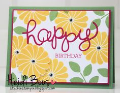 Crazy About {Flowers} - cheerful, clean & simple design - can use many different greetings