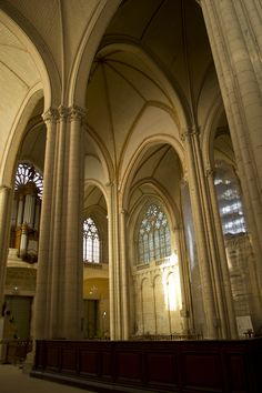 Poitiers Cathedral- interior. 12th century