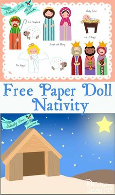 Free Paper Doll Nativity - Design Dazzle