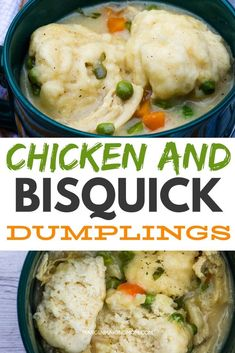 I love using drop biscuits in chicken and dumplings and my favorite hack for speeding up the process is to use Bisquick! These are seriously SO good and it's an easy way to enjoy comfort food without a lot of effort! Chicken And Bisquick Dumplings, Chicken Dumpling Soup, Homemade Dumplings, Dumplings For Soup, Dumpling Recipe, Chicken And Biscuits, Chicken Parmesan Recipes, Recipe Chicken, Lemon Chicken