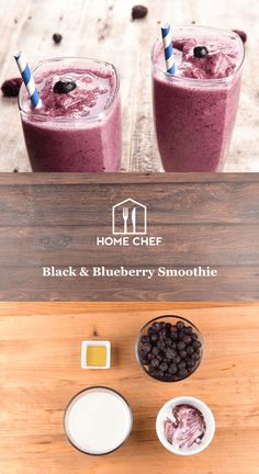 What's black and blue and smooth all over? No, it's not a tuxedo-clad Smurf (but points for creativity). This smoothie marries together blueberries and blackberry yogurt for a antioxidant-tastic concoction that'll kickstart your day.