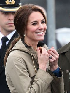 Kate Middleton Photos Photos - Catherine, Duchess of Cambridge.meets members of the Canadian public after disembarking the tall ship Pacific Grace in Victoria Harbour on the final day of their Royal Tour of Canada on October 1, 2016 in Victoria, Canada. The Royal couple along with their Children Prince George of Cambridge and Princess Charlotte are visiting Canada as part of an eight day visit to the country taking in areas such as Bella Bella, Whitehorse and Kelowna - 2016 Royal Tour To…