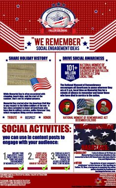 New #Infographic on ways to engage with #social audiences on #MemorialDay.