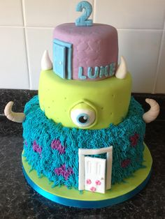 - monsters inc birthday cake