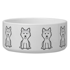 Shiba Inu Dog Cartoon Dog Food Bowls