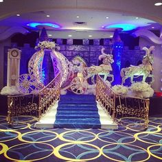 Cinderella themed venue decorations for a happily ever after quinceanera!: http://www.quinceanera.com/decorations-themes/cinderella-themed-venue-decorations-happily-ever-quinceanera/?utm_source=pinterest&utm_medium=article&utm_campaign=011915-cinderella-themed-venue-decorations-happily-ever-quinceanera