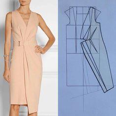 #moda#kalıp#tasarım#dikiş#dikişgram #sew#sewinglove… Sewing Dress, Dress Sewing Patterns, Sewing Clothes, Clothing Patterns, Pattern Sewing, Trendy Dresses, Simple Dresses, Fashion Dresses, Dresses For Work