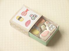 おすしのはんこセット(sushi seal)