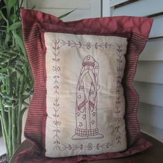 SALE: St. Nick Embroidered Decorative by StitchingTimeBoutiqu