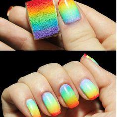 8 pcs nova mulher salão de beleza do prego esponjas para maquiagem acrílico Manicure Nail Art acessório