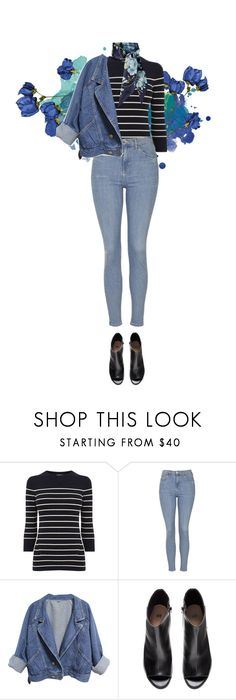 """""""Blue."""" by maryamwrites ❤ liked on Polyvore featuring Warehouse, Topshop, H&M and Gucci"""