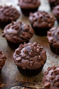 Double Chocolate Muffins | lifemadesimplebakes.com