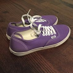 Purple Vans. Size 6! Does show some wear but still in great condition! Goes perfect with black skinnies, crew socks, and oversized jersey. Vans Shoes Sneakers